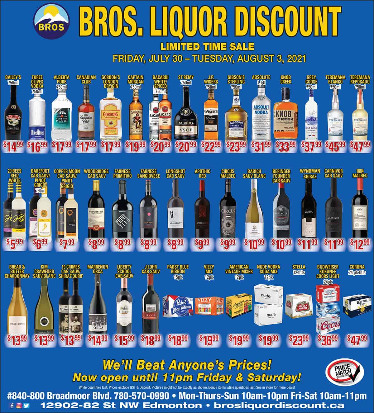 Discount Liquor Flyer july 2021, Sherwood Park, AB