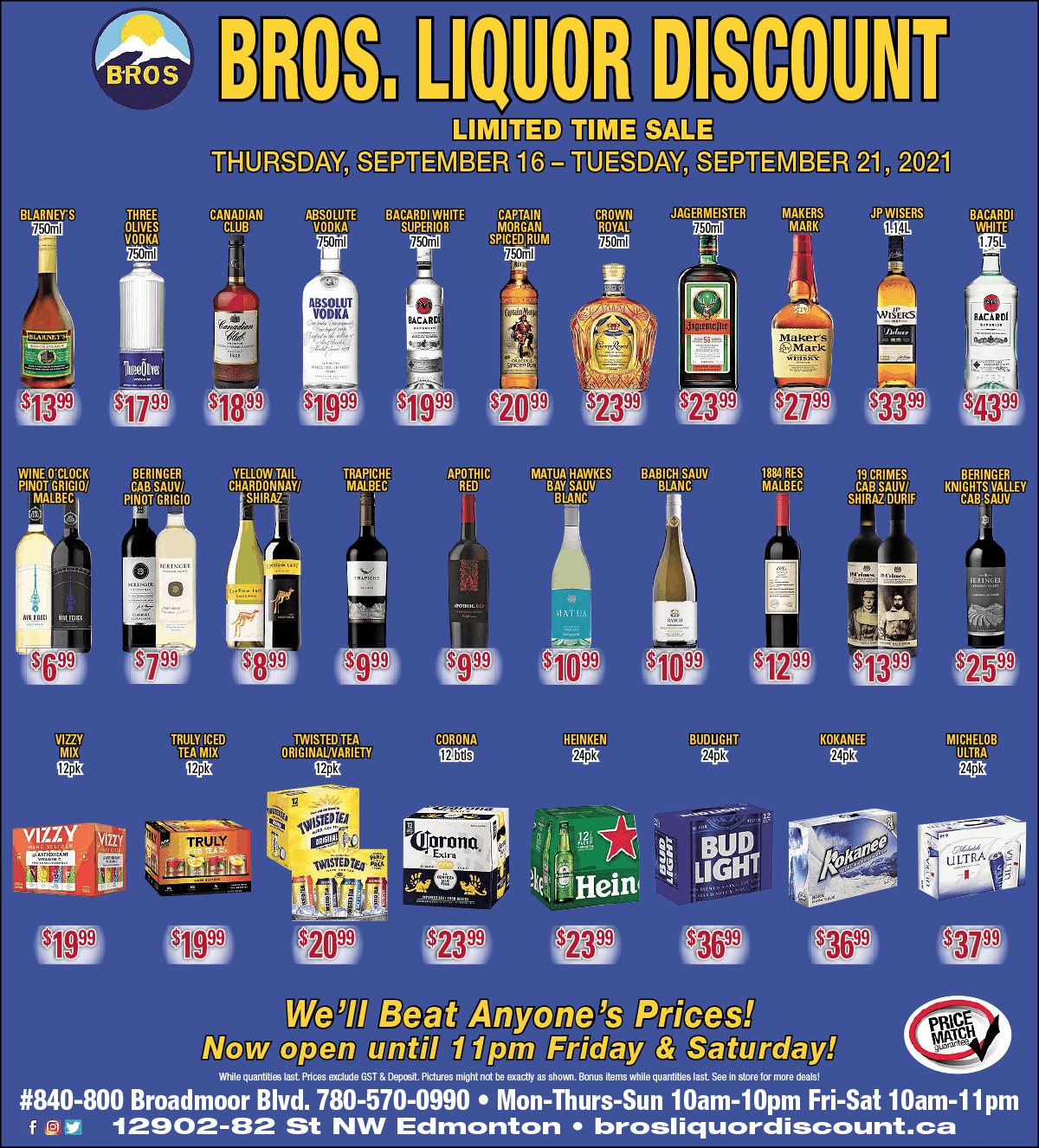 Discount Liquor Flyer August 2021, Sherwood Park, AB
